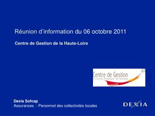 R�union d�information  du 06 octobre 2011