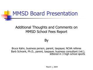 MMSD Board Presentation