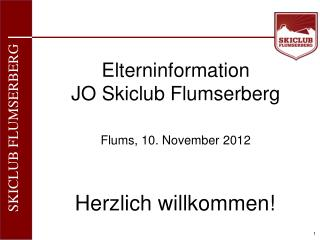 Elterninformation JO Skiclub Flumserberg