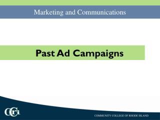 Past Ad Campaigns