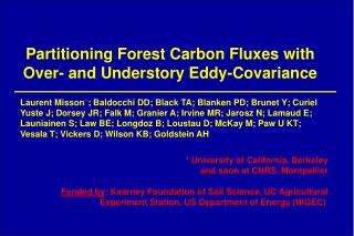 Partitioning Forest Carbon Fluxes with Over- and Understory Eddy-Covariance