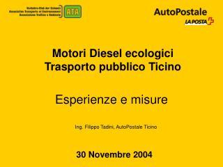 Motori Diesel ecologici Trasporto pubblico Ticino