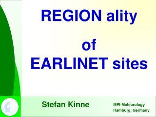REGION ality of EARLINET sites