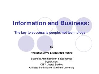 Information and Business: