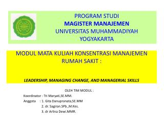 OLEH TIM MODUL : Koordinator : Tri Maryati,SE.MM. Anggota: 1. Gita Danupranata,SE.MM