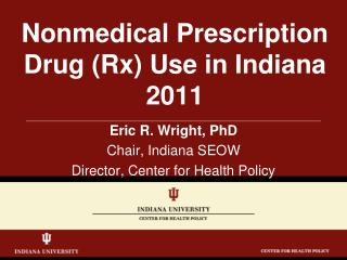 Nonmedical Prescription Drug Rx Use in Indiana 2011