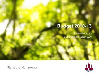 Budget 2010-13