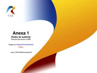 Anexa 1 Studiu de audien ţă