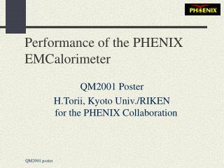Performance of the PHENIX EMCalorimeter
