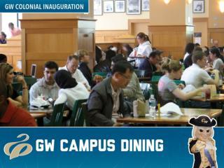 GW Campus Dining Principles