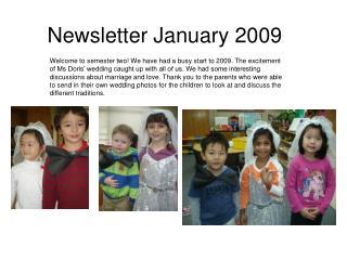 Newsletter January 2009