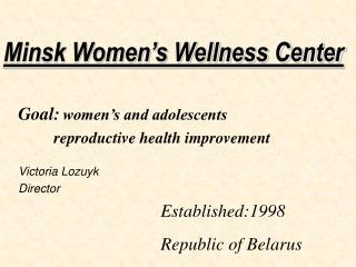 Minsk Women's Wellness Center