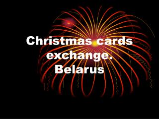 Christmas cards exchange. Belarus