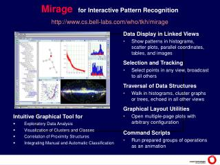Mirage for Interactive Pattern Recognition