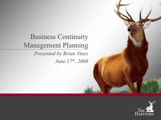 Business Continuity Management Planning