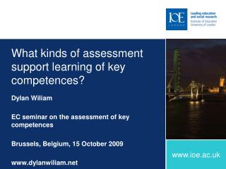 What kinds of assessment support learning of key competences?