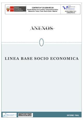 LINEA BASE SOCIO ECONOMICA