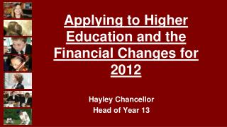 Hayley Chancellor Head of Year 13