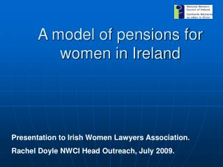 A model of pensions for women in Ireland