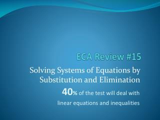 ECA Review #15