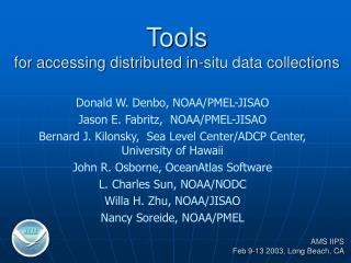 Tools for accessing distributed in-situ data collections