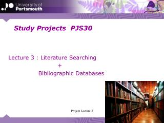 Study Projects  PJS30