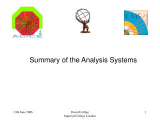Summary of the Analysis Systems