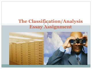 The  Classification/Analysis Essay Assignment