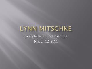 Lynn  Mitschke