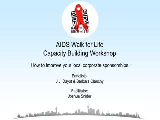 AIDS Walk for Life Capacity Building Workshop