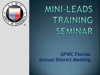 MINI-LEADS training seminar