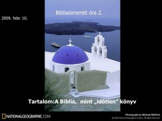 Bibliaismereti óra 2.