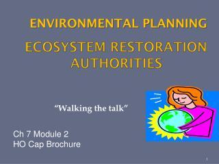 Ecosystem Restoration Authorities