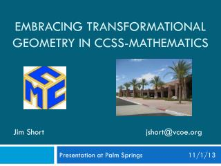 Embracing transformational geometry in CCSS-Mathematics