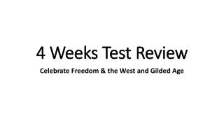 4 Weeks Test Review