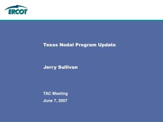 Texas Nodal Program Update