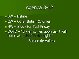 Agenda 3-12