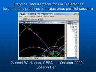 Geant4 Workshop, CERN - 1 October 2002  Joseph Perl