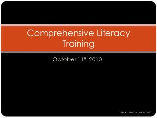 Comprehensive Literacy Training
