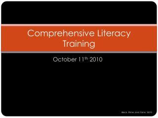 Comprehensive Literacy Training