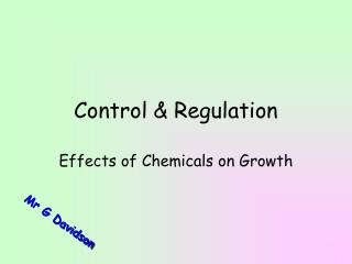 Control  Regulation