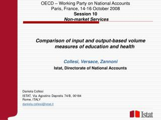 Comparison of input and output-based volume measures of education and health