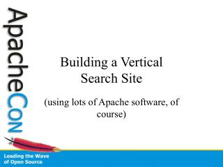 Building a Vertical Search Site