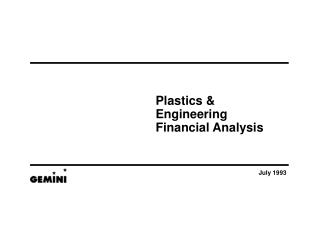 Plastics & Engineering  Financial Analysis