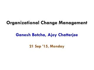 Leading Strategic Change