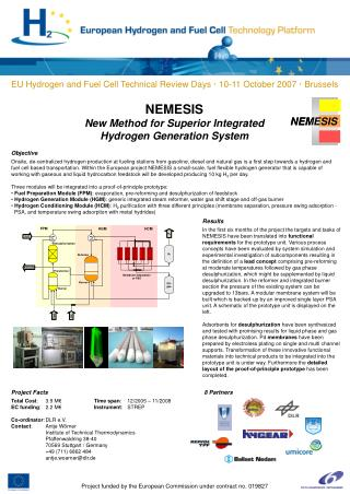 NEMESIS New Method for Superior Integrated Hydrogen Generation System