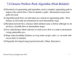 7.6 Generic Preflow-Push Algorithm (Push-Relabel)