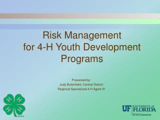 Risk Management for 4-H Youth Development Programs