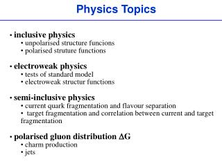 Physics Topics