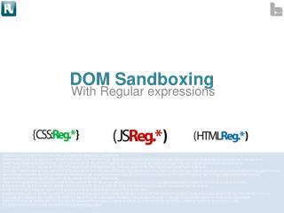 DOM Sandboxing